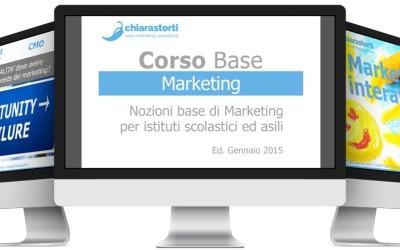 Corso Marketing base per istituti scolastici ed asili – gennaio 2015