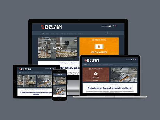Realizzazione sito web aziendale Delfin.it