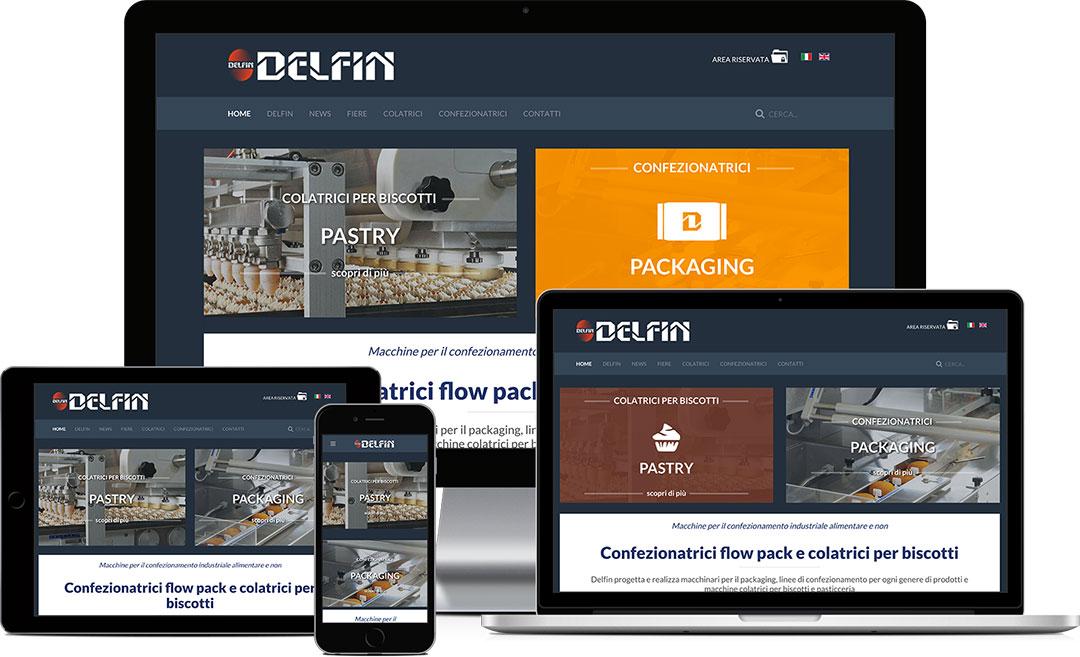 realizzazione sito web aziendale Delfin