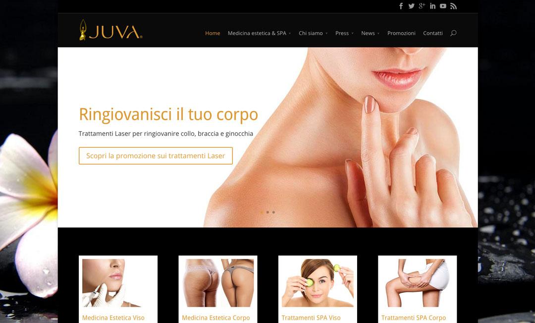Homepage sito web centro estetico dvora