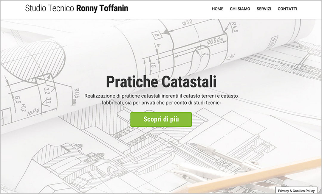 Homepage sito web Studio Toffanin