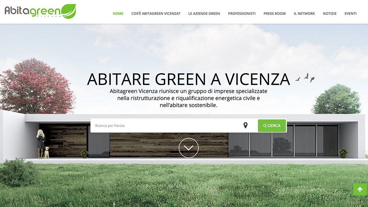Homepage Abitagreenvicenza sito web