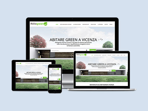 Restyling sito web abitagreenvicenza.it