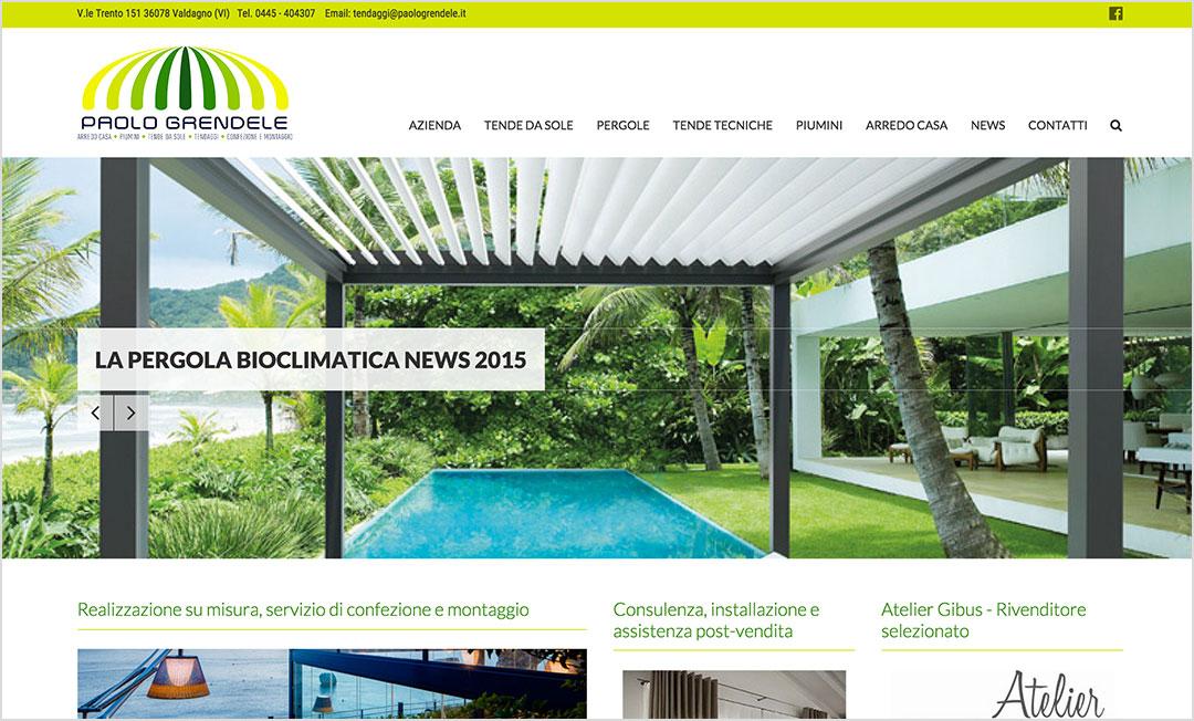 Homepage sito web Paolo Grendele tendaggi