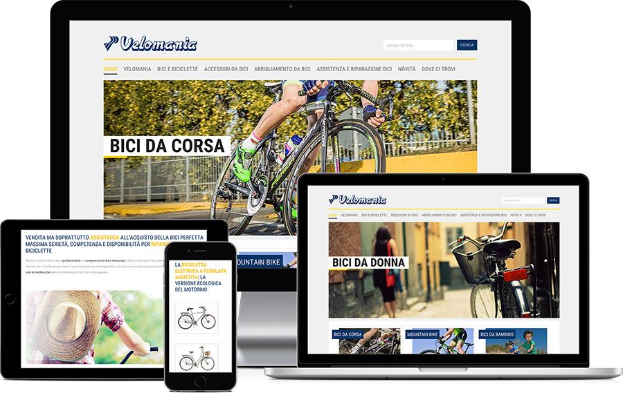 Sito web responsive Velomania Bike