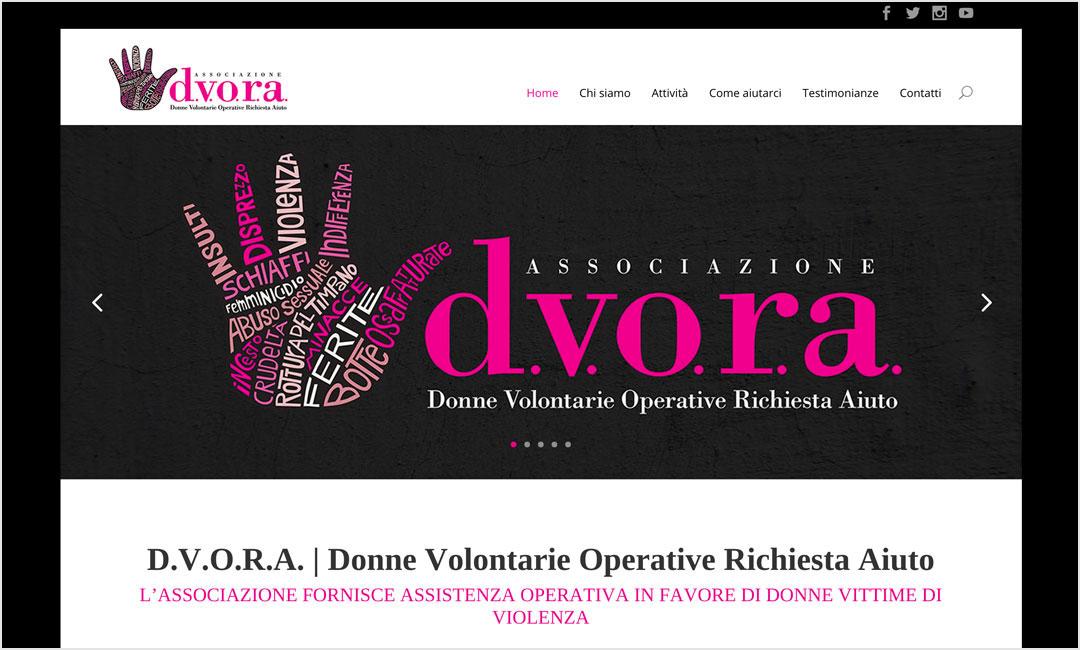 Homepage sito Associazione Dvora