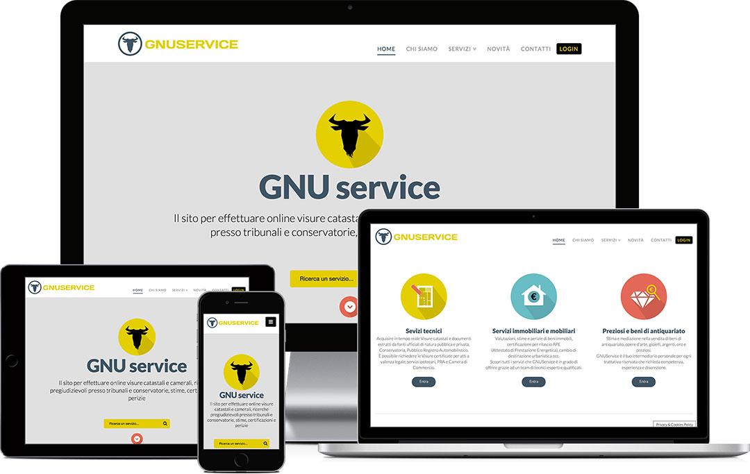 Sito web responsive GNU service