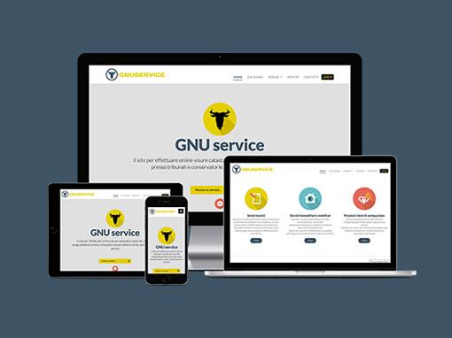 Realizzazione sito web e logo gnuservice.it