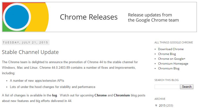 Bug di Chrome causa problemi di visualizzazione dei siti web