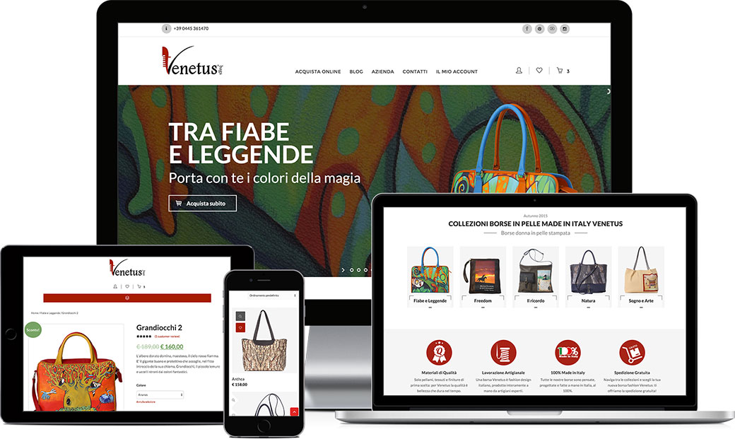 Sito e-commerce responsive Venetus
