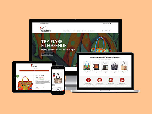Restyling e-commerce e campagna Web Marketing venetus.it