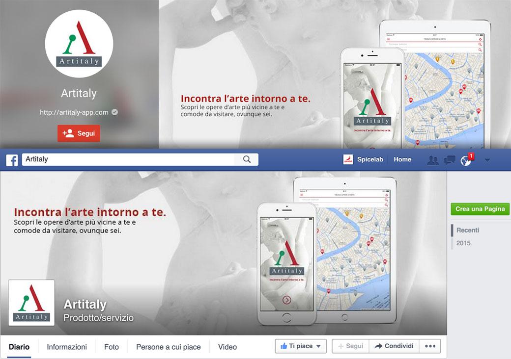 artitaly app creazione pagine social