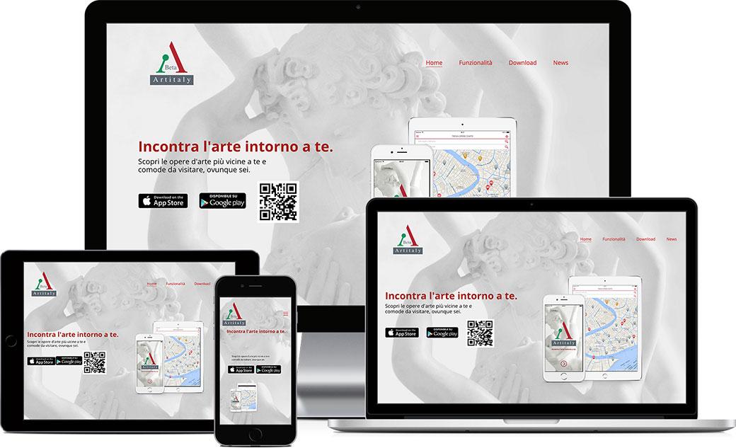 Artitaly-app.com sito web responsive