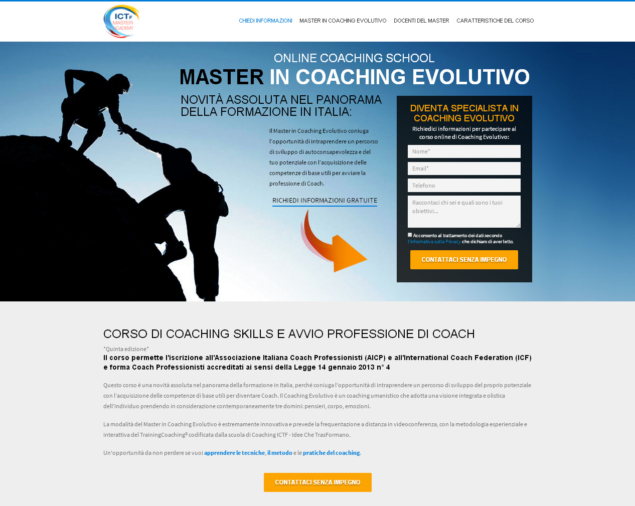 Master in Coaching Evolutivo: campagna AdWords