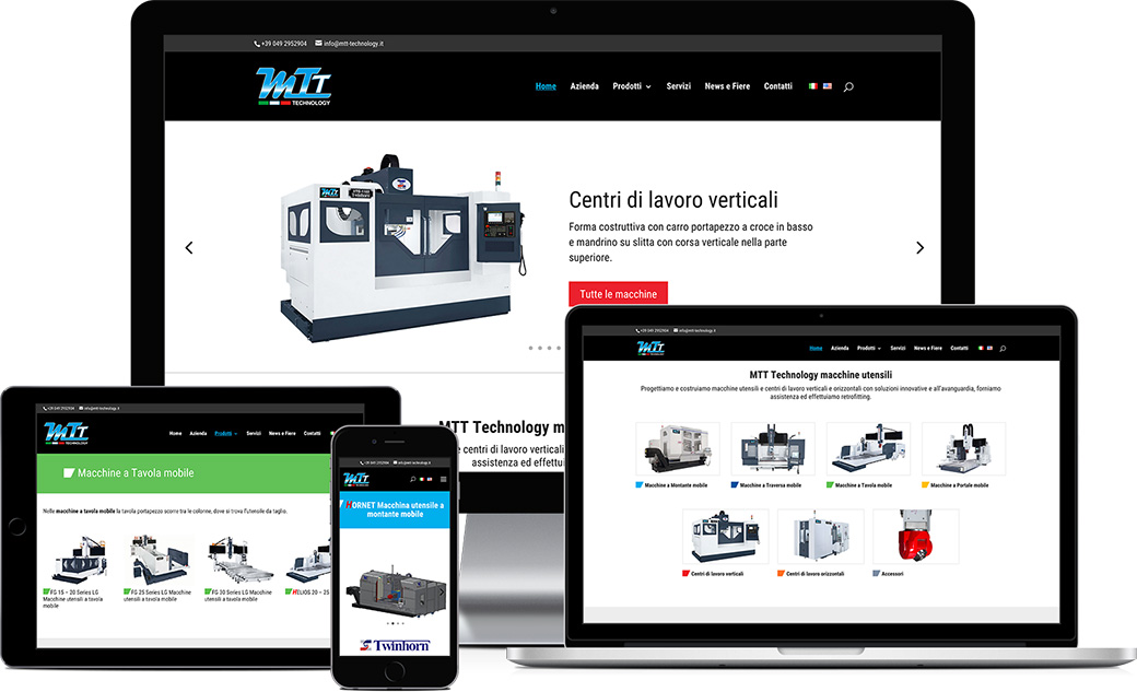 Sito web responsive MTT Technology