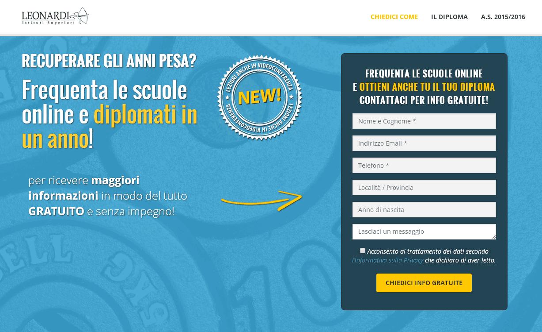 Recupero anni scolastici e diploma online: campagna AdWords