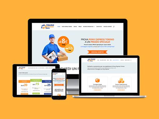 Restyling sito web, SEO e PPC Ponyexpresstorino.it