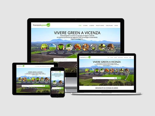 Realizzazione portale sito web vicenzaingreen.it