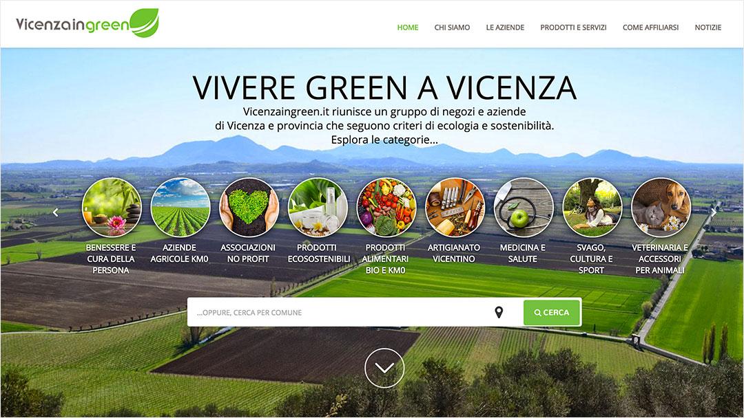 Homepage Vicenzaingreen sito web