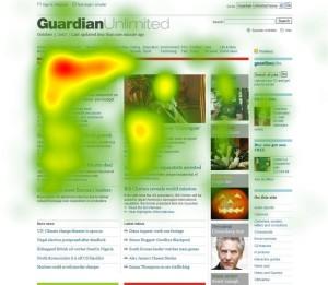 heatmap di una pagina web