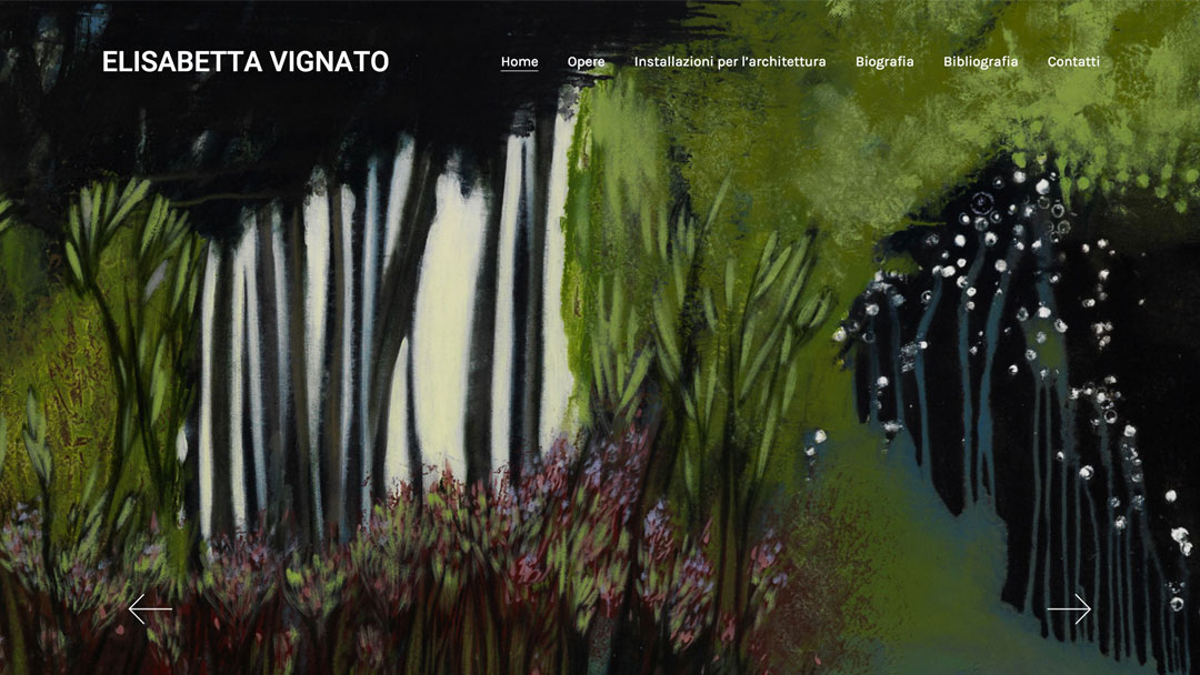 homepage sito web Elisabetta Vignato