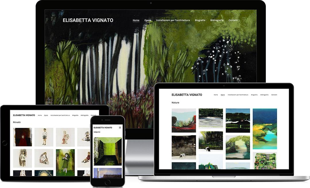 sito web responsive Elisabetta Vignato