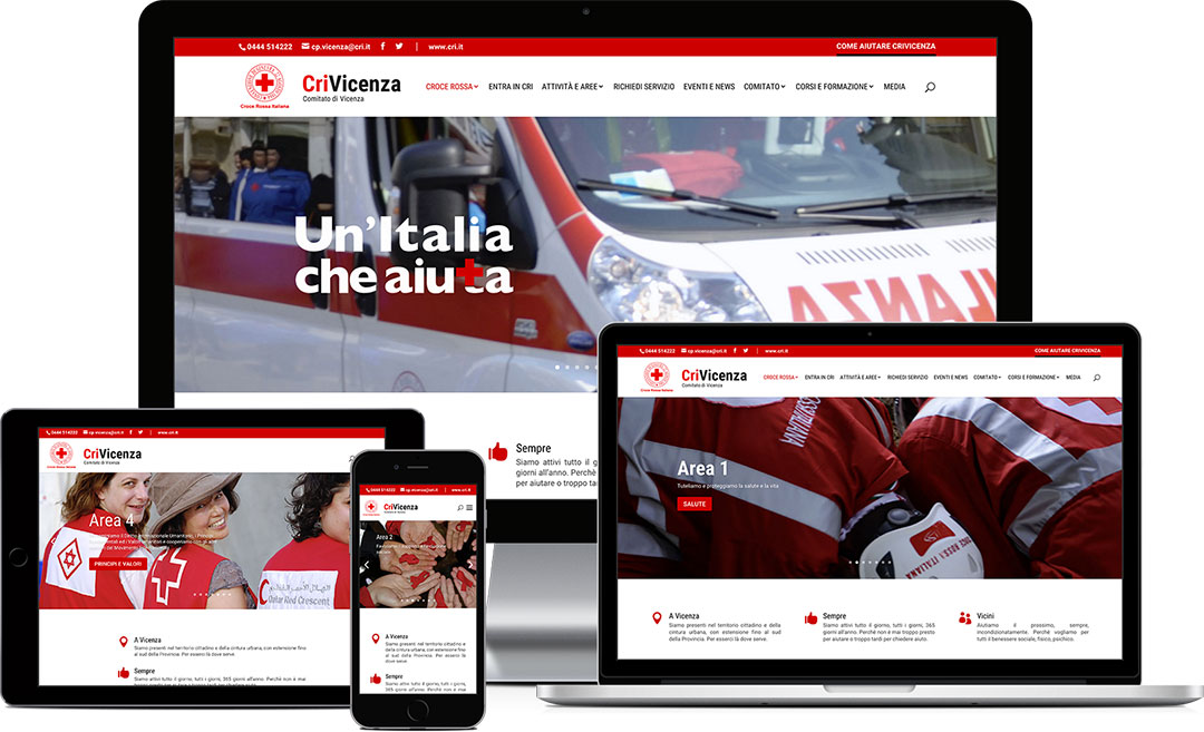 Crivicenza.it sito web responsive