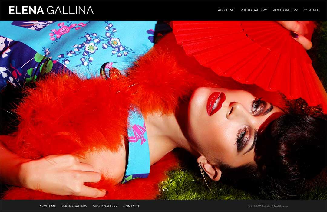 Elenagallina.com homepage sito