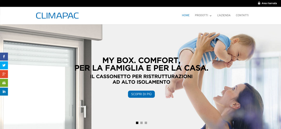Climapac.it homepage sito web
