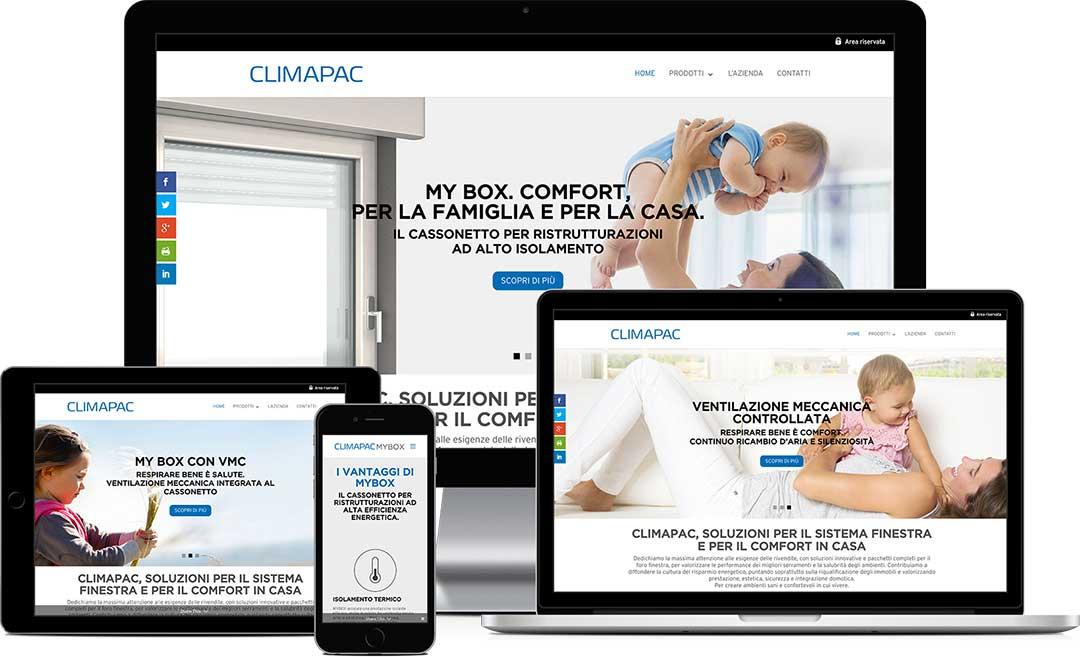 climapac.it realizzazione del sito responsive