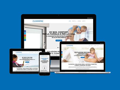 Realizzazione sito web climapac.it