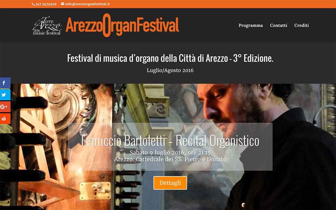 Arezzorganfestival.it homepage sito
