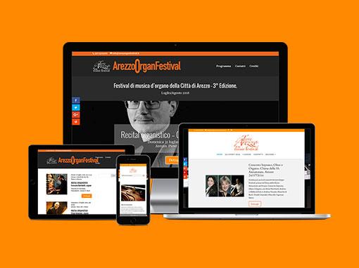 Restyling siti web Arezzorganfestival.it e Terredarezzomusicfestival.it
