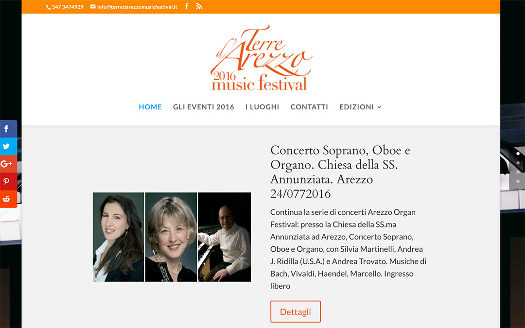 Terredarezzomusicfestival.it homepage sito