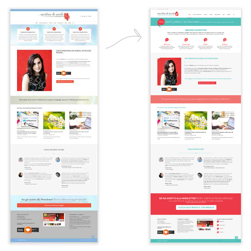 restyling homepage martina de nardi