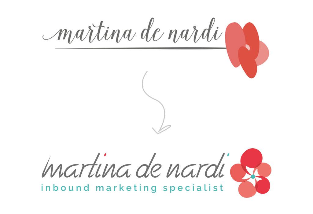 restyling logo Martina De Nardi