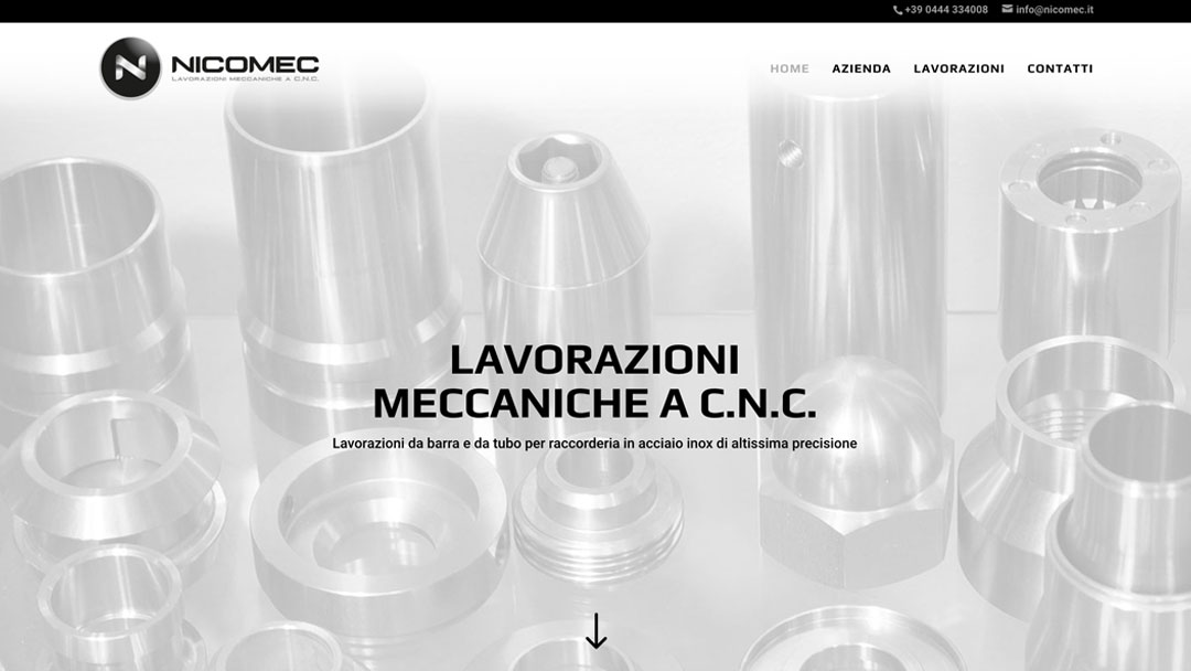 Nicomec.it sito web homepage