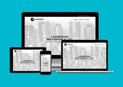 Realizzazione logo, immagine coordinata e sito web Nicomec.it