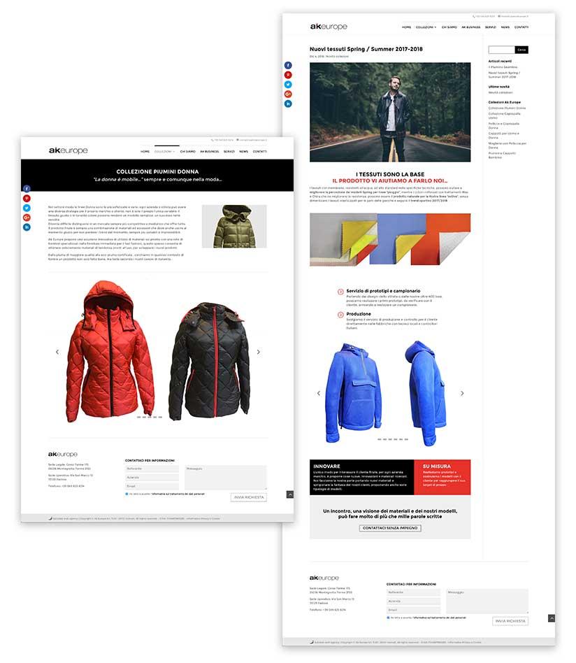 dettaglio pagine sito web akiraeurope.it