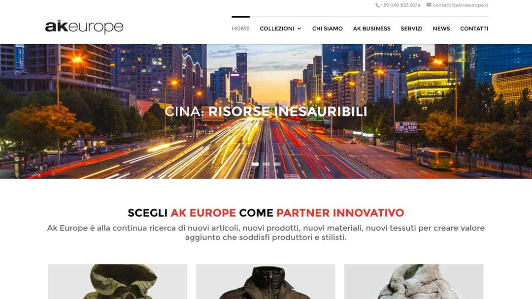 Akiraeurope homepage sito web