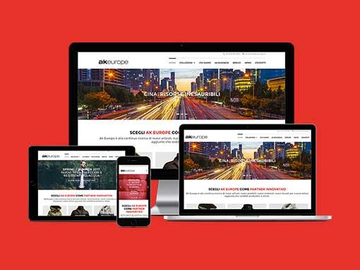 Realizzazione del sito web aziendale akiraeurope.it