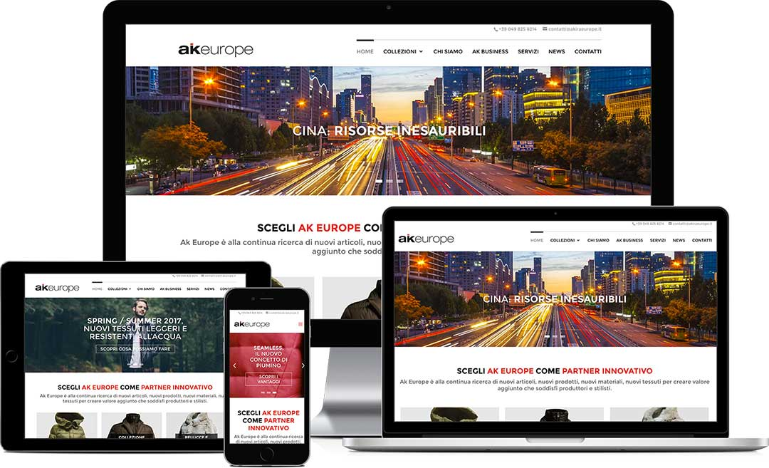 akiraeurope.it realizzazione del sito responsive