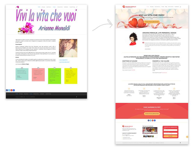 realizzazione grafica homepage Arianna Monaldi