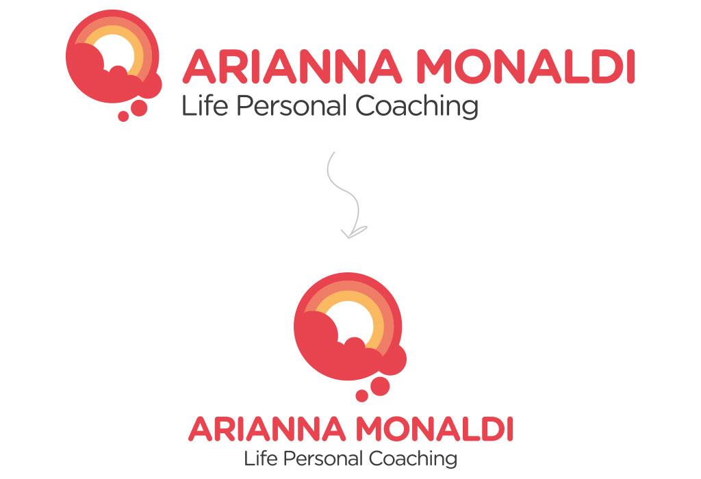 nuovo logo Arianna Monaldi - orizzontale e verticale