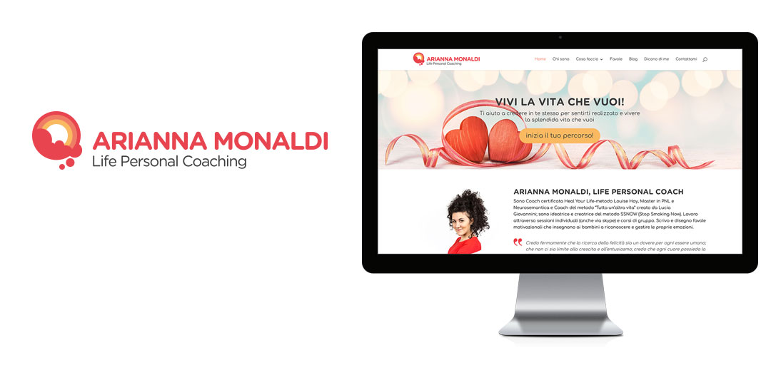 Arianna Monaldi branding logo e sito
