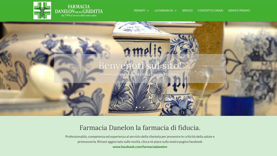 Farmacia Danelon Giuditta homepage sito web