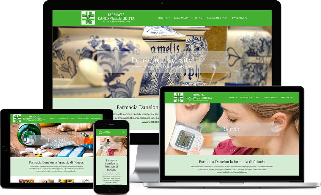 Farmacia Danelon Giuditta homepage sito web responsive