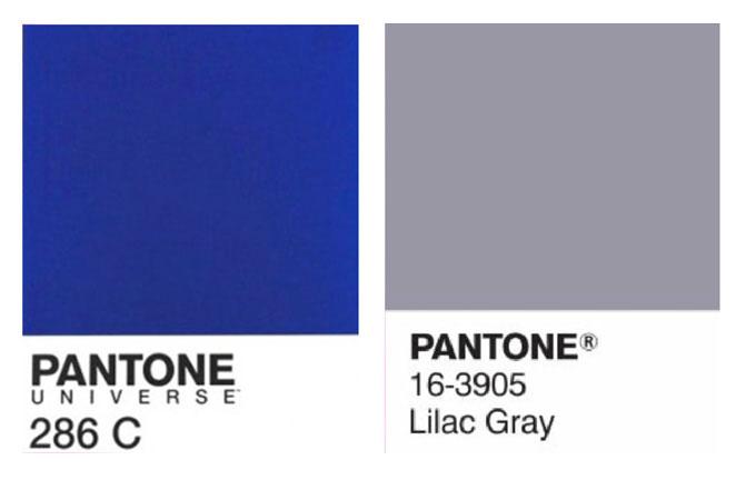 colori pantone individuati per il logo Studio De Lucca