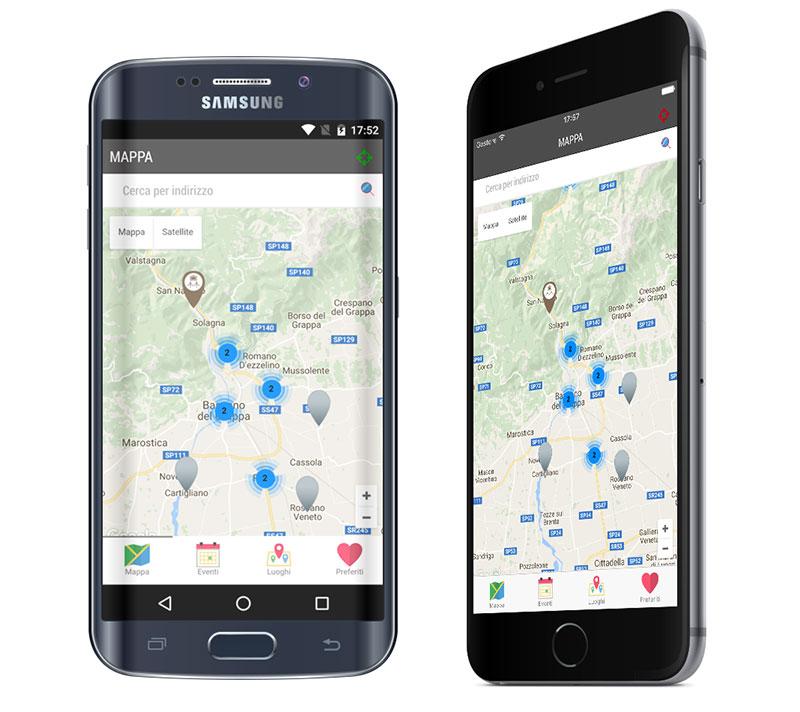 app Consorzio Grappa Valbrenta sviluppo per android e iOS
