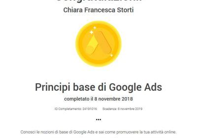 Google Partner certificazione pubblicità Google Ads